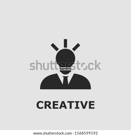 Creative symbol. Outline creative icon. Creative vector illustration for graphic art.