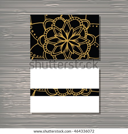 Creative template for designer, photographer or studio.  Vector editable pattern with front and back side visit cards.