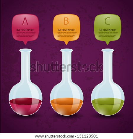 Creative Template test tube glass banner / can be used for infographics / banners / concept vector illustration