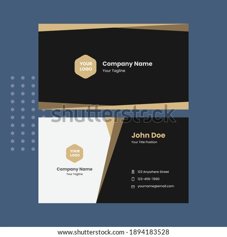 Creative Templates Business Card. Balck and Gold Business Cards. Professional and elegant abstract card templates perfect for your company and job title. vector design templates. clean business cards.