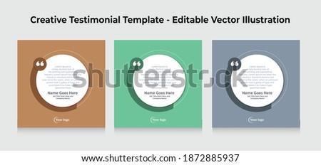 Creative Testimonial Templates - Editable Vector Illustration Photo stock ©