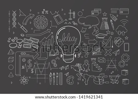 creative thinking idea spread vector illustration