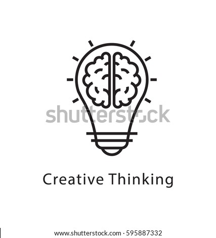 Creative Thinking Vector Line Icon