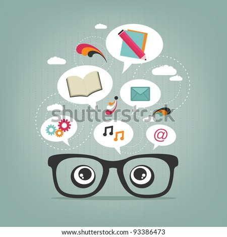 creative thought - stock vector