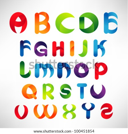 creative three dimensional alphabet set