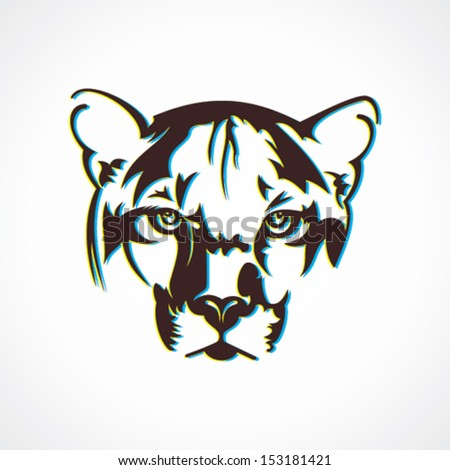 creative tiger  face design