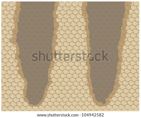 Creative Tiger Snake Skin Illustration - stock vector