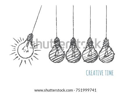 creative time concept. five...