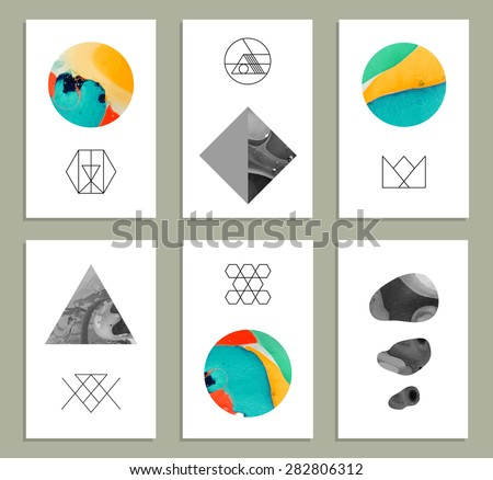 creative trendy cards abstract