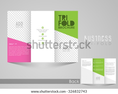 Business Brochure Design Template With Space For Your Image - Double sided brochure template