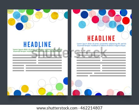 Stylish Corporate Office Magazine Cover Page Design In A4 Print