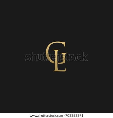 Creative unique modern elegant connected fashion brands black and gold color GL LG G L initial based letter icon logo. Stok fotoğraf ©