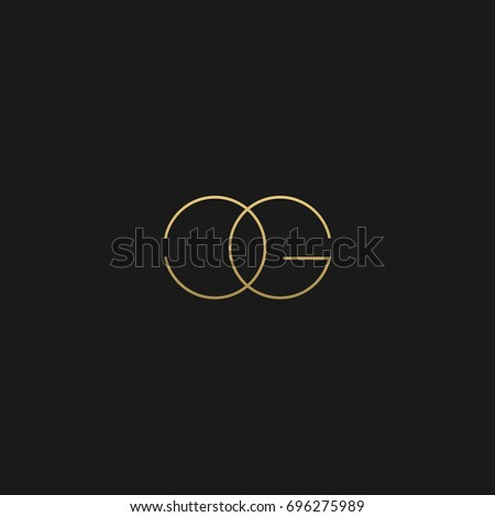 Creative unique modern stylish connected fashion brands black and gold color CG C G initial based letter icon logo. Stock fotó ©