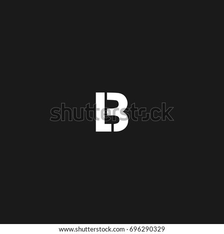 Creative unique modern stylish unusual sports brands black and white color BL LB B L initial based letter icon logo.