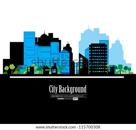 Creative urban landscape - stock vector