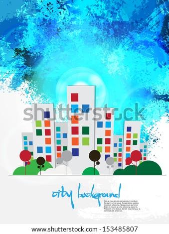 Creative urban landscape. vector - stock vector