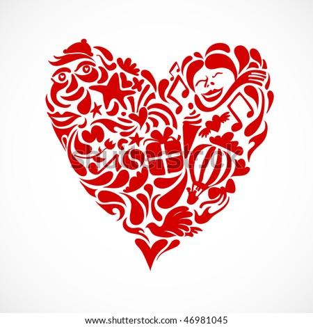 Creative Valentine Heart Symbol Stock Vector 46981045 : Shutterstock