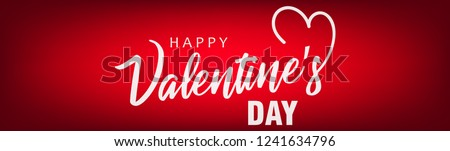 Creative valentines day vector with happy valentines day text with heart symbol on red background.