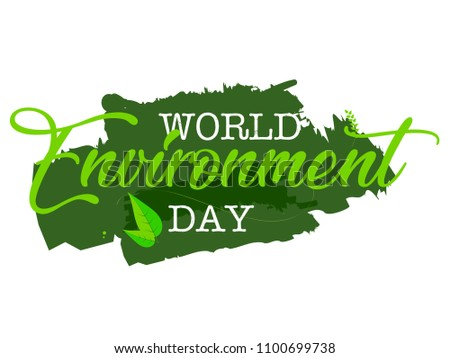 creative vector abstract, banner or poster for World Environment Day with nice and creative design illustration.