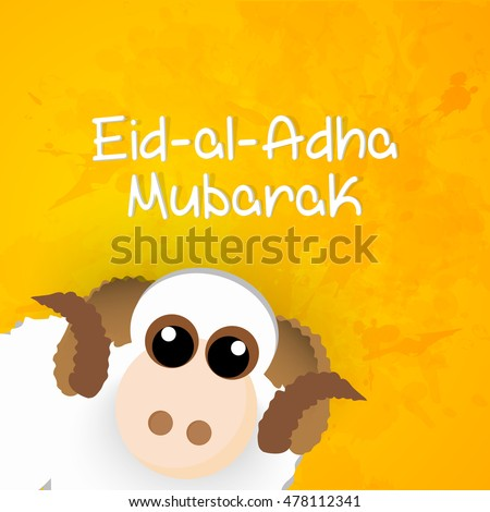 creative vector abstract for Eid Al Adha Mubarak or Eid Mubarak with nice and beautiful design illustration in a background. #478112341