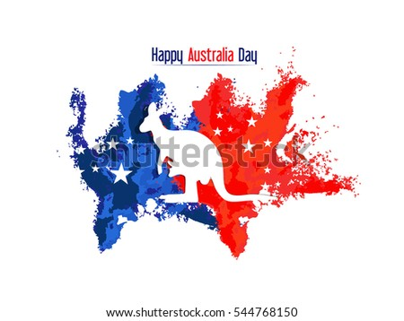 creative vector abstract for Happy Australia Day with nice and creative design illustration in a background. #544768150