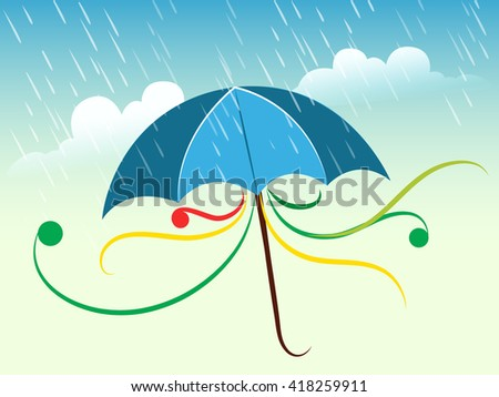 creative vector abstract for Monsoon with nice and creative illustration in a beautiful background.