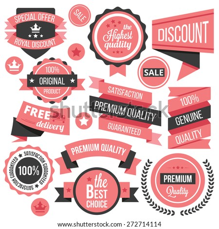 creative vector badges  labels