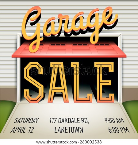 Yard Sale or Garage Sale Illustration - Download Free Vector Art ...
