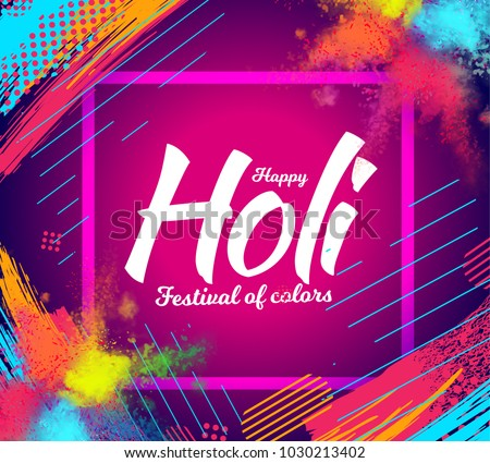 holi festival of colors flyer download free vector art stock