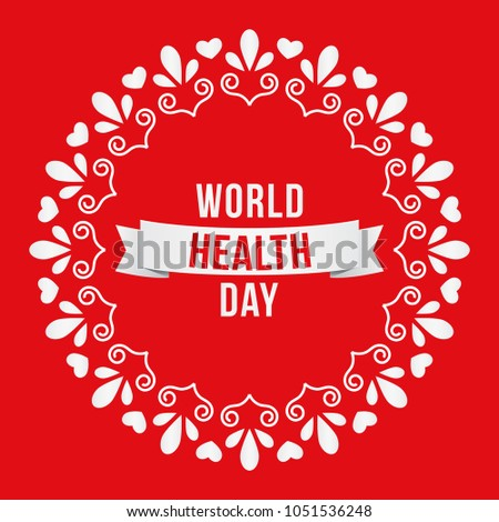 Creative vector illustration for World Health Day campaigns. Can be used for posters, web banners, backgrounds, signs, symbols, badge, icon, and promotions.