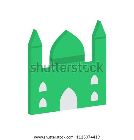 creative vector illustration isometric colorful building masque icon