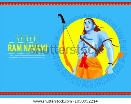 Creative Vector illustration of a Religious Background for Shree Ram Navami. - Shutterstock ID 1050952214