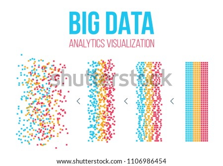 Creative vector illustration of BIG DATA analysis of Information. Science and technology background. Web display screen art design. Abstract concept graphic element for visual future analyze code