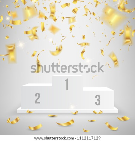 Creative vector illustration of 3d business winners podium in different view isolated on background. Art design pedestal with first, second, third place for award ceremony. Abstract concept graphic