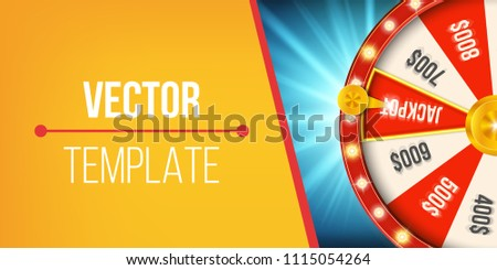 Spinning wheel template vector download free vector art stock creative vector illustration of 3d fortune spinning wheel lucky roulette win jackpot in casino art maxwellsz