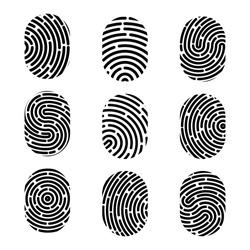 Creative vector illustration of fingerprint. Art design finger print. Security crime sign. Abstract concept graphic element. Thumbprint id.