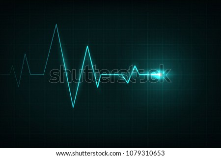 Creative vector illustration of heart line cardiogram isolated on background. Art design health medical heartbeat pulse. Abstract concept graphic element