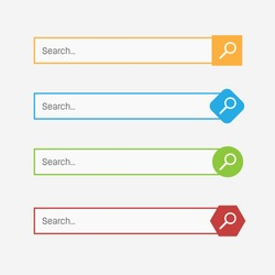 Creative vector illustration of search bar boxes buttons. UI and UX interface template isolated on background. Web site art design. Abstract concept graphic element.