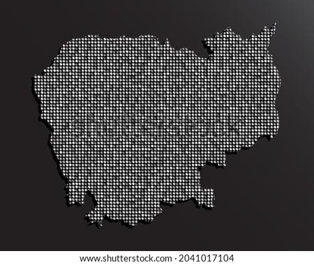 creative vector map cambodia