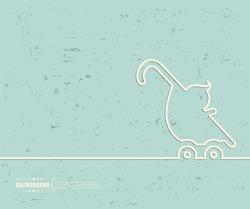 Creative vector stroller. Art illustration template background. For presentation, layout, brochure, logo, page, print, banner, poster, cover, booklet, business infographic, wallpaper, sign, flyer.