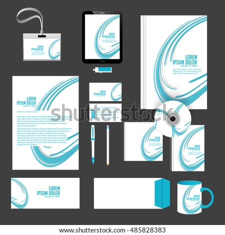 creative vector templates for Office Stationery with nice and beautiful design and illustration in a background.
