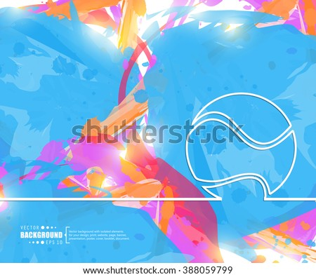 creative vector tennis ball
