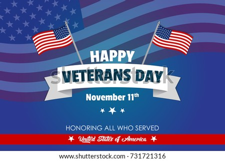 Creative Veterans Day Illustration With Usa Flag Celebrating American War Can Be Used