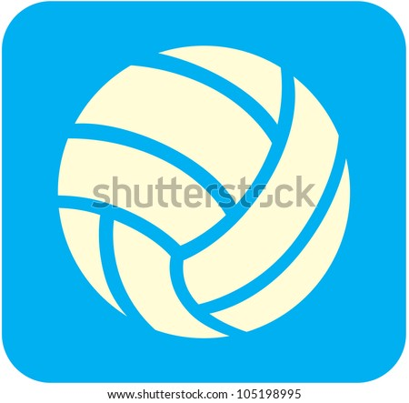Creative Volleyball Icon