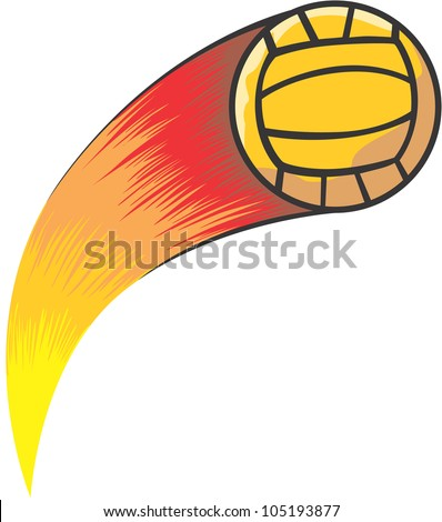 Creative Volleyball Illustration / Fast moving volleyball like a comet
