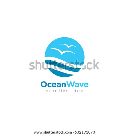Creative Wave Concept Logo Design Template