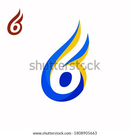creative 6 with fire concept