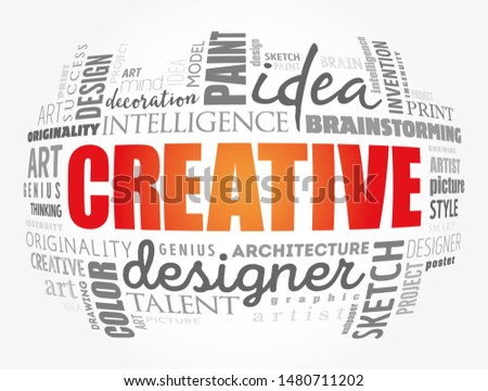 CREATIVE word cloud, creative business concept background