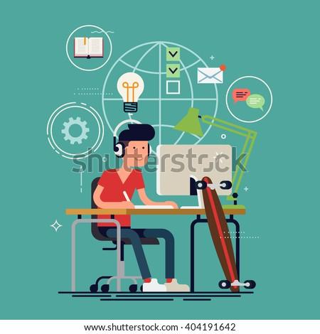 creative work concept vector