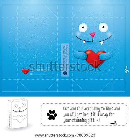 Creative wrap layout for gift - stock vector